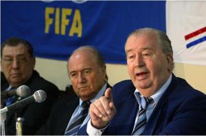 Die zwei mächtigsten Männer der FIFA: Präsident Sepp Blatter und sein Vize Grondona